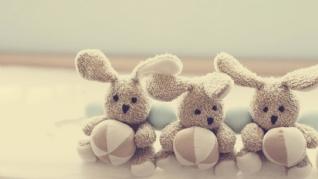 可爱温馨兔子玩偶壁纸