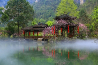 重庆酉阳桃花幽美风景壁纸